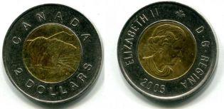 2 доллара медведь Канада 2001 год