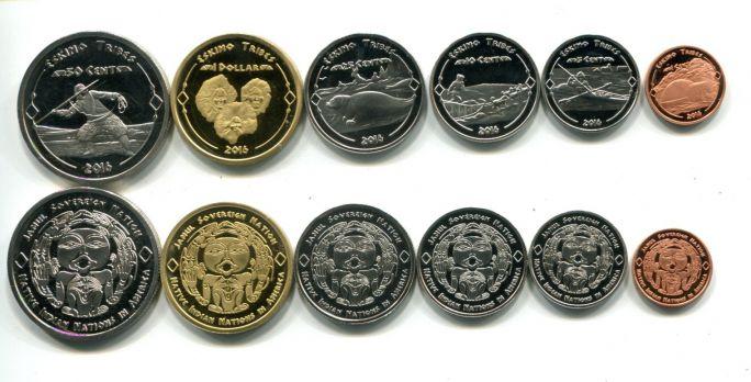 Набор монет США Эскимосы 2016 год