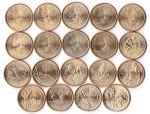 Набор монет США полный -  Индианка Сакагавея Парящий орел