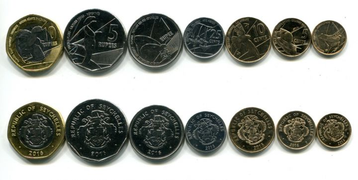 Набор монет Сейшел 2016 год