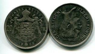 20 франков Король Альберт Бельгия 1932 год