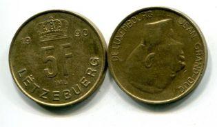 5 франков другой тип Люксембург