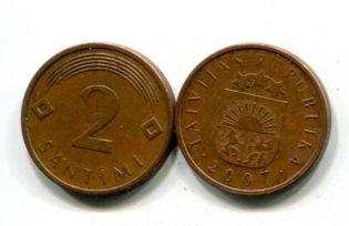 2 сантима Латвия