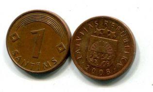 1 сантим Латвия