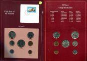 Набор монет фауна Тувалу 1985 год
