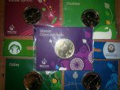 Набор монет Азербайджана 2015 год Европейские игры