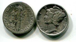 10 центов Меркурий США