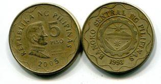 5 песо Флиппины Эмилио Агинальдо