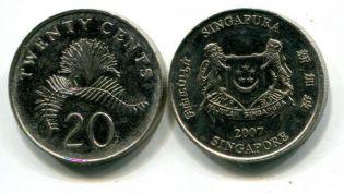 20 центов Сингапур новый тип