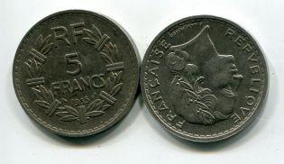 5 франков Франция 1935 год