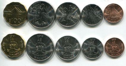 Набор монет Вануату быт островитян 2015 год