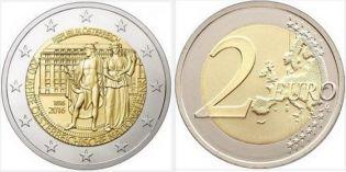 2 евро 200 лет Национальному банку Австрия 2016 год