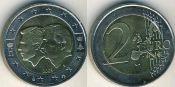 2 евро Бельгийско-Люксембургский экономический союз Бельгия 2005 год