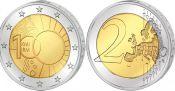 2 евро Королевский Метеорологический Институт Бельгия 2013 год