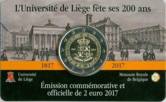 2 евро Льежский университет Бельгия 2017 год