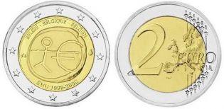 2 евро UEM 10 лет экономическому союзу Бельгия 2009 год