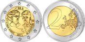2 евро Международный день женщин Бельгия 2011 год