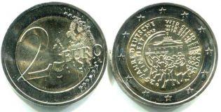 2 евро 25 лет объединения Германия 2015 год
