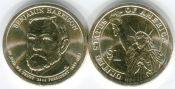 1 доллар Бенджамин Гаррисон 23-й президент США 2012 год