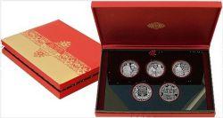 Набор монет Беларуси 1 рубль Слуцкие пояса 2013 год