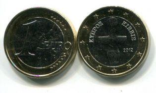 1 евро Кипр 2012 год