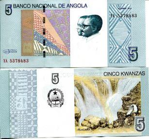 5 кванз водопад Ангола 2012 год