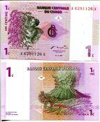 1 сантим Конго 1997 год