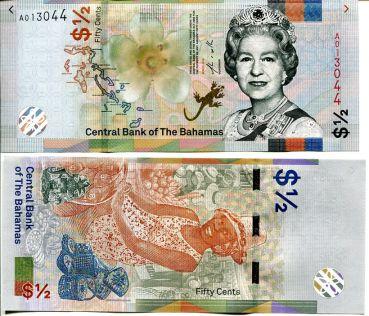 1/2 доллара (50 центов) Багамские острова 2019 год