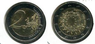 2 евро 30 лет флагу ЕС Эстония 2015 год