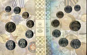 Набор монет России регулярного чекана 2009 год с жетоном (СПМД)