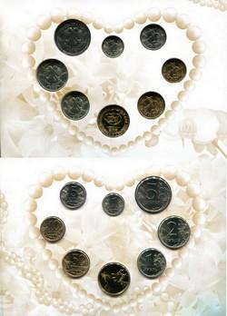 Россия набор монет регулярного чекана 2008 год (Свадебный)